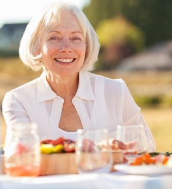 Personnes âgées repas